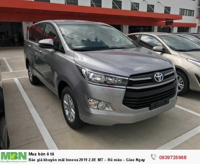 Toyota Innova 2.0E Khuyến Mãi Khủng Tại Toyota An Thành Fukushima, Xe Có Sẳn, Đủ Màu