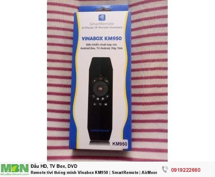 Remote tivi thông minh Vinabox KM950 | SmartRemote | AirMouse | Chuột bay cho Android Box1