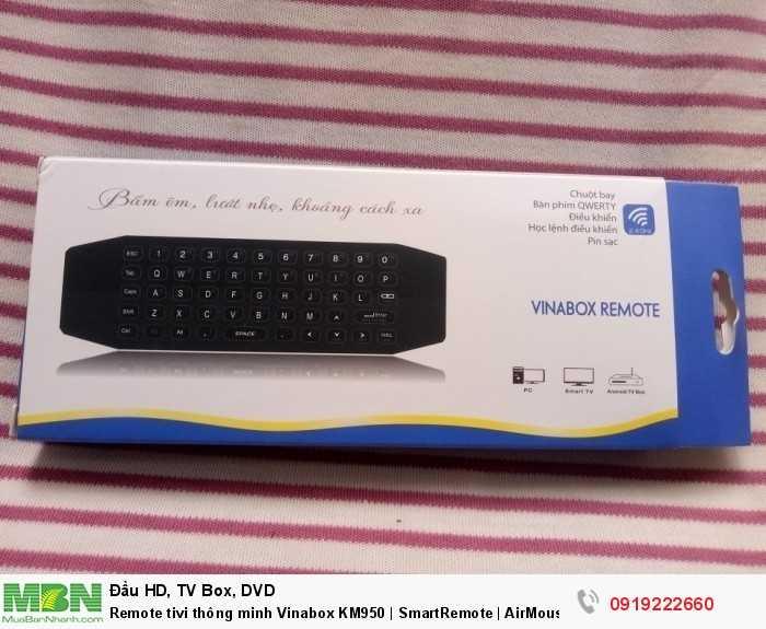 Remote tivi thông minh Vinabox KM950 | SmartRemote | AirMouse | Chuột bay cho Android Box3
