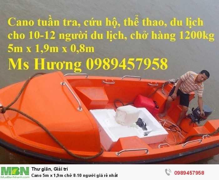 Cano chở 8-10 người, Cano chở 20 người 6mx1.75 giá tốt8