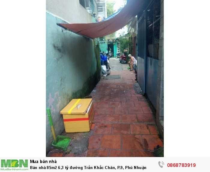 Bán nhà 85m2 đường Trần Khắc Chân, P.9, Phú Nhuận
