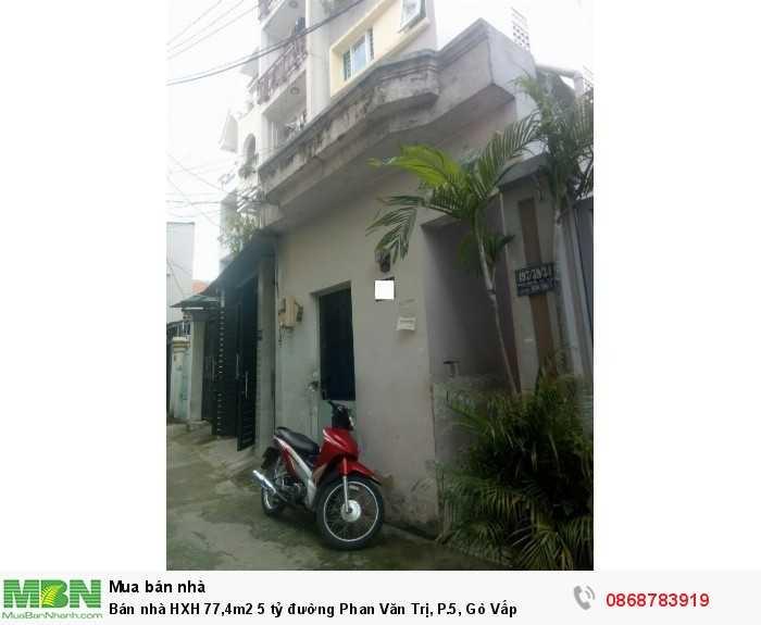 Bán nhà HXH 77,4m2 đường Phan Văn Trị, P.5, Gò Vấp
