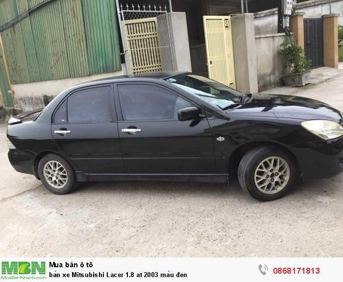 Bán xe Mitsubishi Lacer 1.8 at 2003 màu đen
