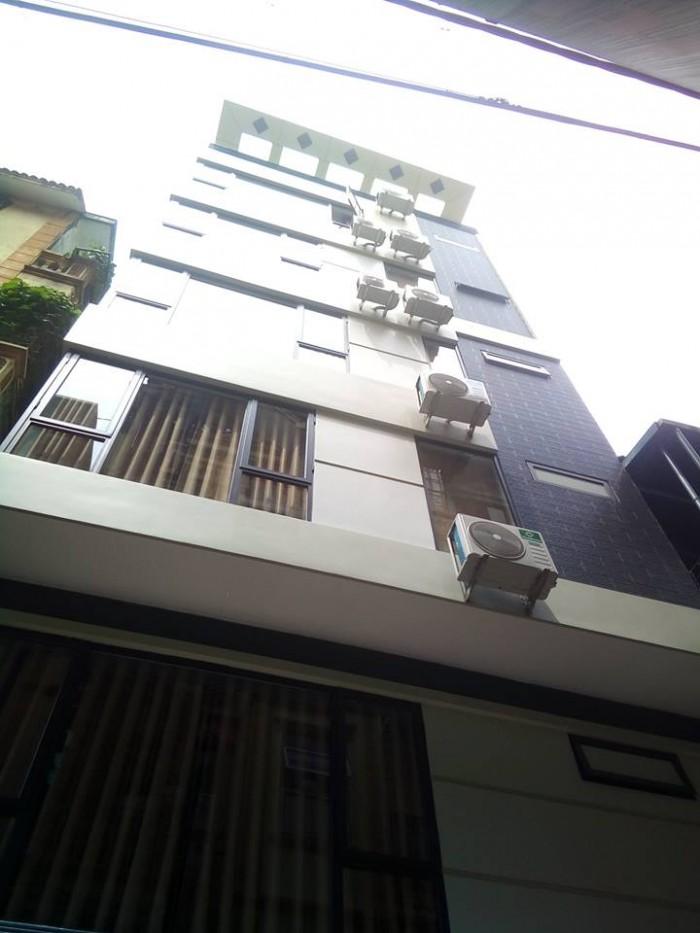 Nhà 7 tầng thang máy ở Yên Lãng- Thái Thịnh 2 Đống Đa ngõ ô tô kinh doanh 53m2 mặt tiền 6.5m