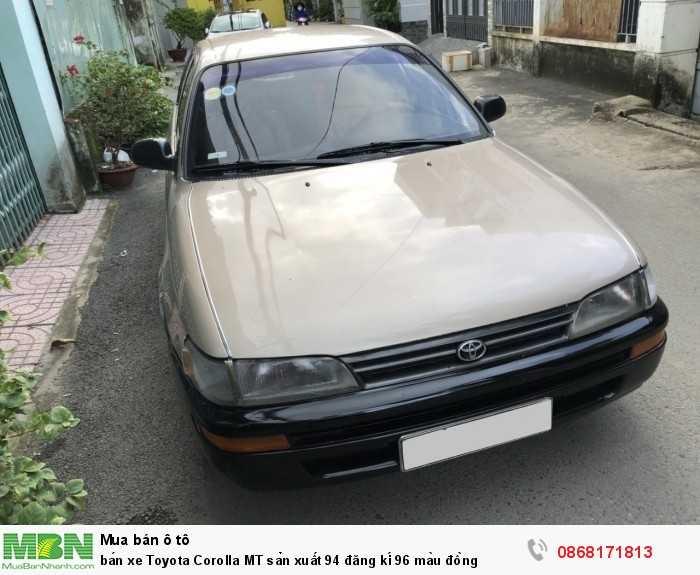 Bán xe Toyota Corolla 1.6MT sản xuất 1994 đăng kí 1996 màu đồng
