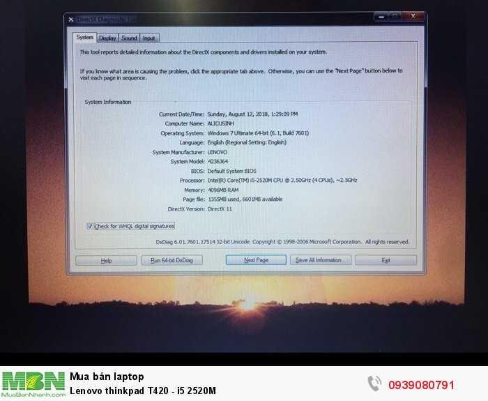 Lenovo thinkpad T420 - i5 2520M4