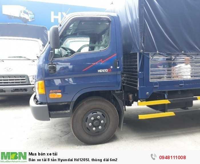 Bán xe tải 8 tấn Hyundai Hd120SL thùng dài 6m2
