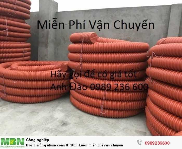 Báo giá ống nhựa xoắn - Luôn miễn phí vận chuyển