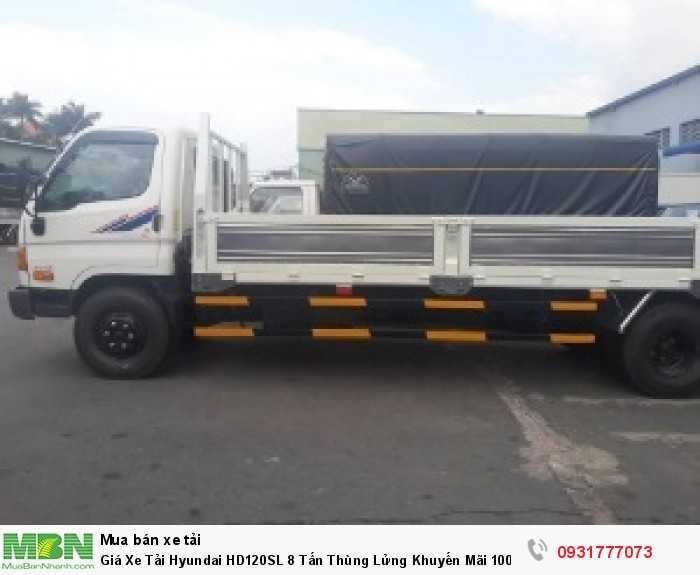Giá xe tải Hyundai HD120SL 8 tấn - Hỗ trợ vay ngân hàng đến 90% giá trị xe - trả trước 150 triệu