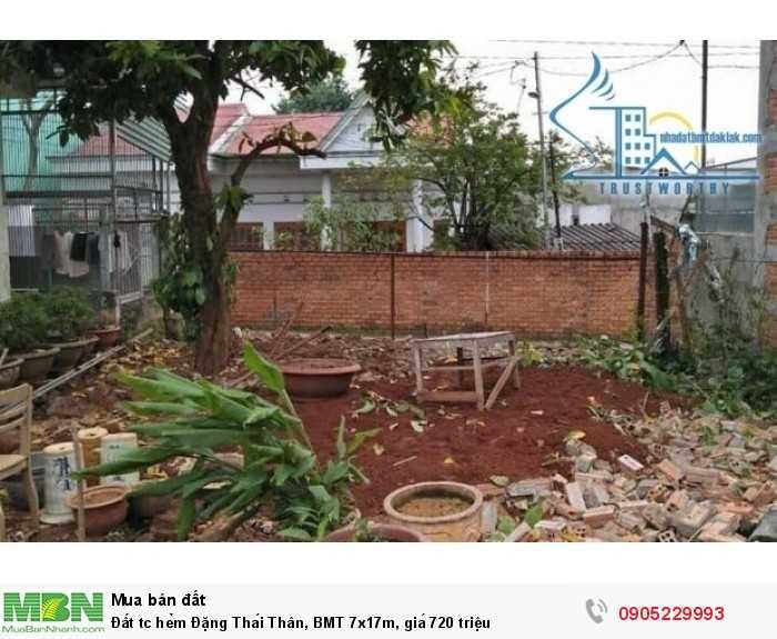 Đất tc hẻm Đặng Thái Thân, BMT 7x17m