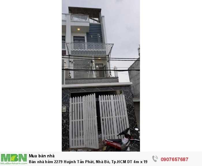 Bán nhà hẻm 2279 Huỳnh Tấn Phát, Nhà Bè, Tp.HCM DT 4m x 19m, 2 lầu