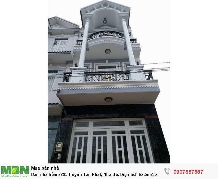 Bán nhà hẻm 2295 Huỳnh Tấn Phát, Nhà Bè, Diện tích 62.5m2, 2 lầu, 4PN
