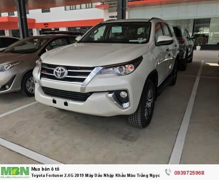 Toyota Fortuner 2.4G 2018 Máy Dầu Nhập Khẩu Màu Trắng Ngọc Trai Giao Tại HCM