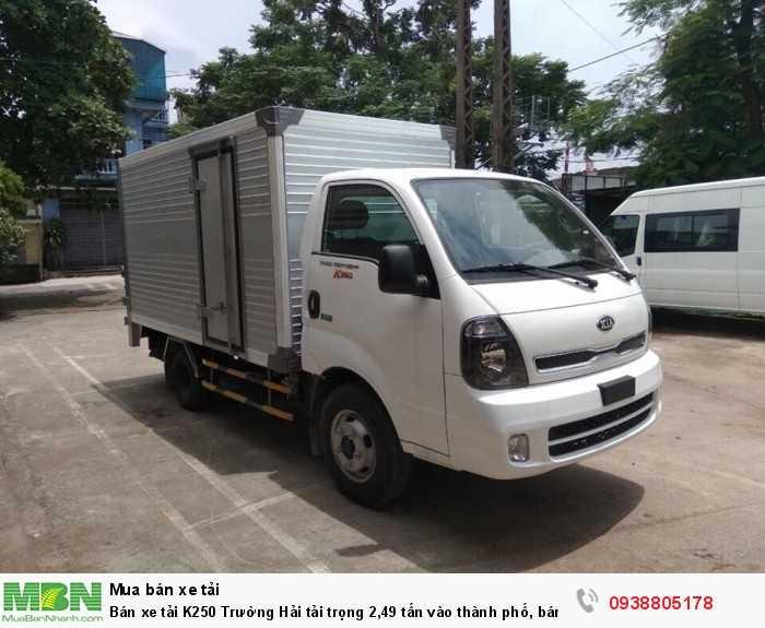 Bán xe tải K250 Trường Hải tải trọng 2,49 tấn vào thành phố, bán trả góp 80% giá trị xe. 4