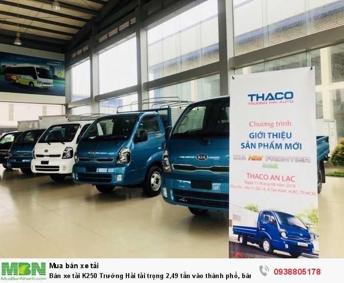 Bán xe tải K250 Trường Hải tải trọng 2,49 tấn vào thành phố, bán trả góp 80% giá trị xe. 6