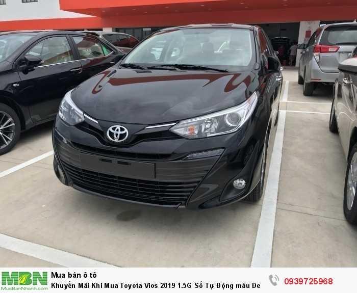 Khuyến Mãi Khi Mua Toyota Vios 2019 1.5G   Số Tự Động màu Đen Nhận Xe Chỉ Cần 130Tr.