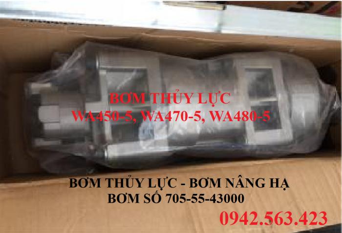Bơm thủy lực Komatsu WA480-5