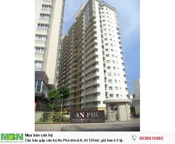 Cần bán gấp căn hộ An Phú block A, Dt 157m2