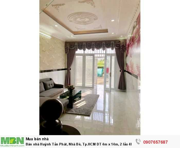 Bán nhà Huỳnh Tấn Phát, Nhà Bè, Tp.HCM DT 4m x 14m, 2 lầu 4PN giá 3.35 tỷ