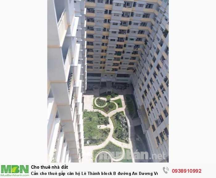 Cần cho thuê gấp căn hộ Lê Thành block B đường An Dương Vương, Dt 83m2