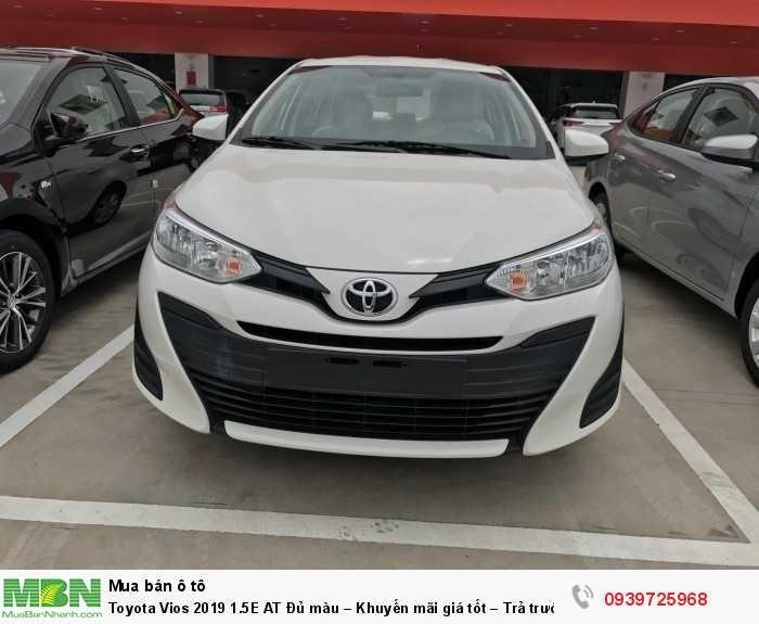 Toyota Vios 2019 1.5E AT Đủ màu – Khuyến mãi giá tốt – Trả trước 130tr nhận xe.