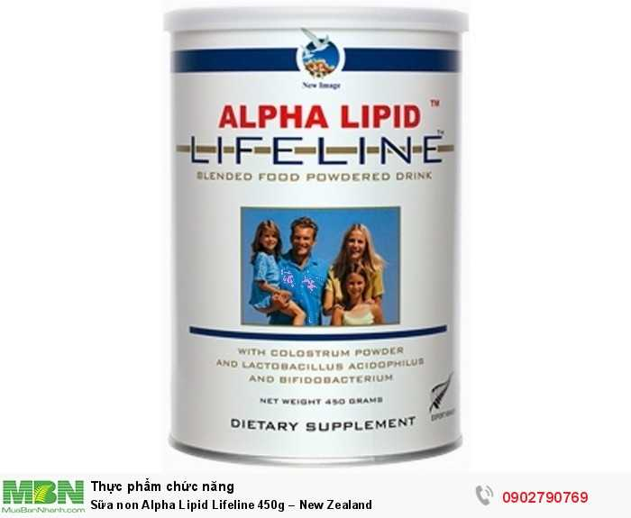 Sữa non Alpha Lipid Lifeline 450g – New Zealand0