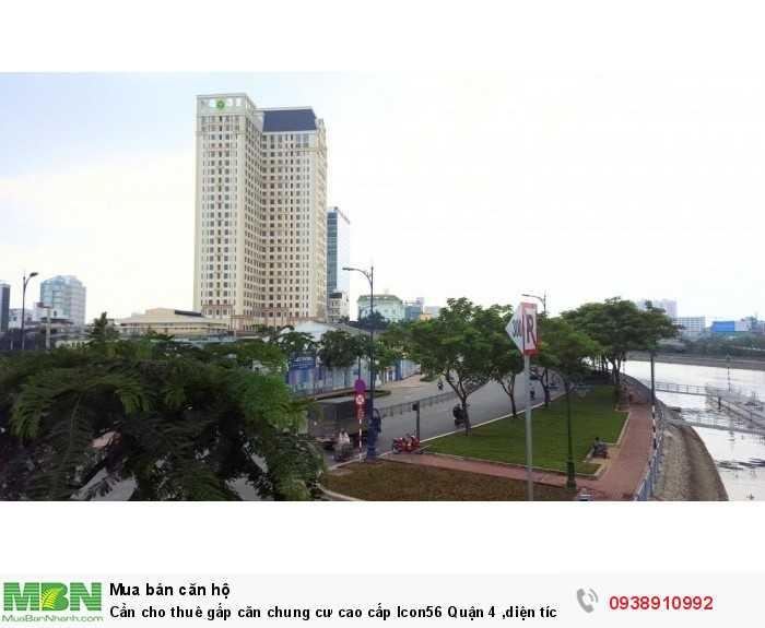 Cần cho thuê gấp căn chung cư cao cấp Icon56  Quận 4 ,diện tích 79m,