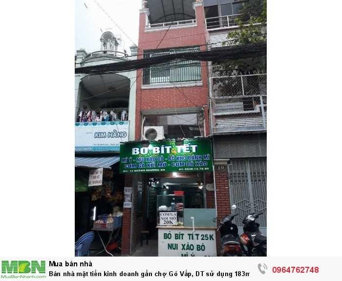 Bán nhà mặt tiền kinh doanh gần chợ Gò Vấp, DT sử dụng 183m2, 3 tầng