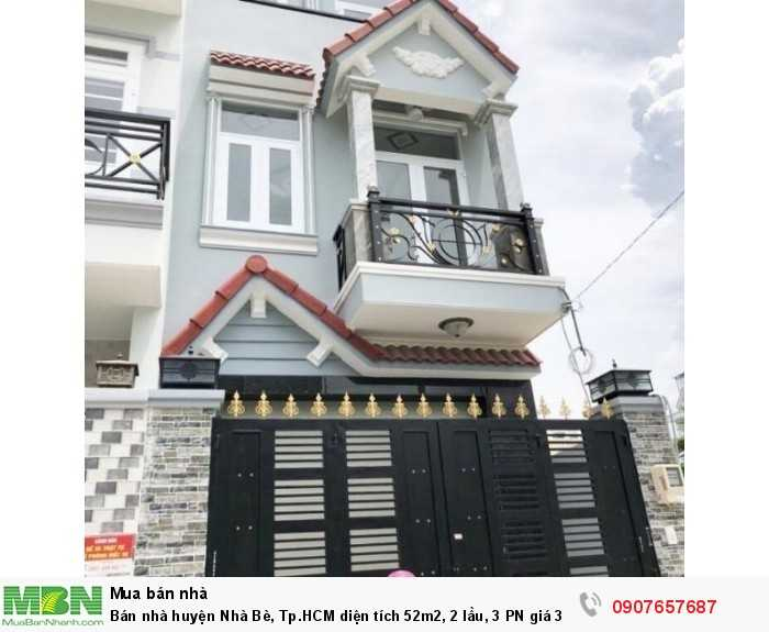 Bán nhà huyện Nhà Bè, Tp.HCM diện tích 52m2, 2 lầu, 3 PN