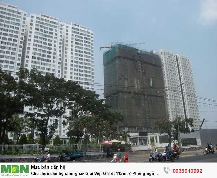 Cho thuê căn hộ chung cư Giai Việt Q.8 dt 115m, 2 Phòng ngủ, 11.5tr/th