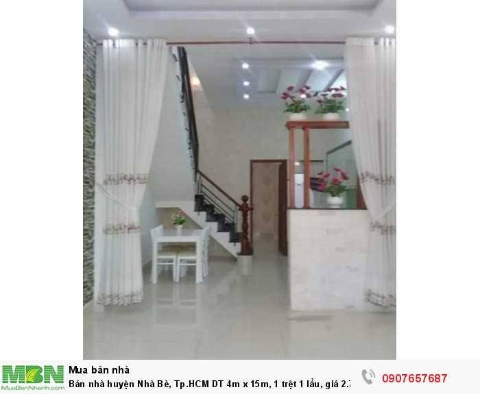 Bán nhà Huyện Nhà Bè, Tp.HCM DT 4m x 15m, 1 trệt 1 lầu