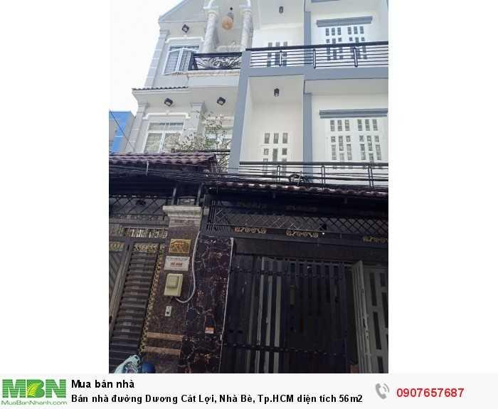 Bán nhà đường Dương Cát Lợi, Nhà Bè, Tp.HCM diện tích 56m2, 2 lầu , 3PN