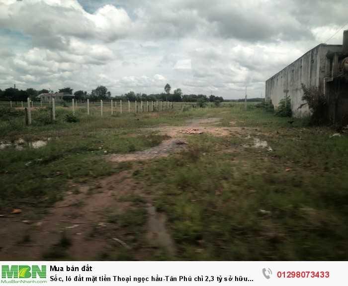 Sốc, lô đất mặt tiền Thoại ngọc hầu-Tân Phú sở hữu ngay 937m2, ngang khủng 22m