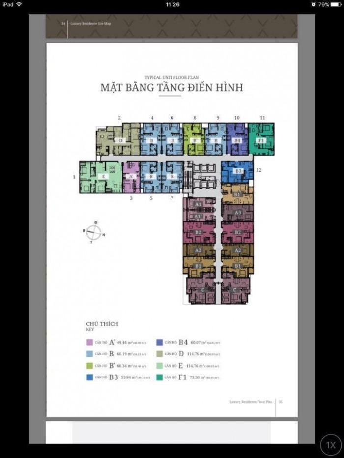 Căn hộ Luxury Réidence mt ql13,gần Aeon Mall,2PN căn gốc 73m2,tháng 10 nhận nhà.