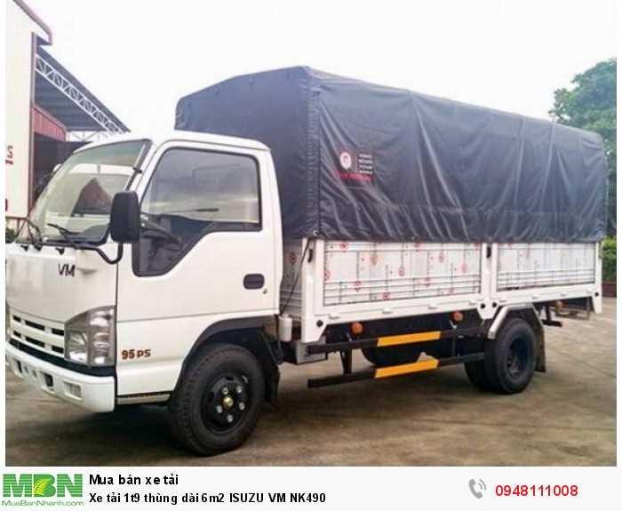 Xe tải 1t9 thùng dài 6m2 ISUZU VM NK490