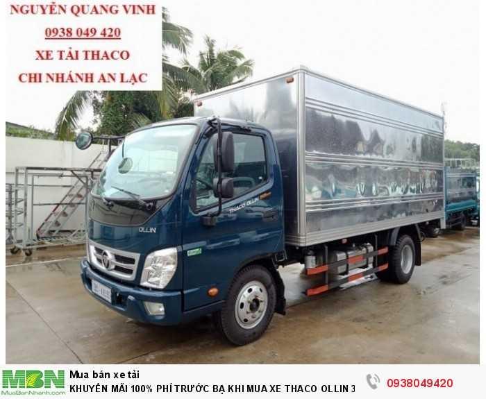 Xe tải Trường Hải - Thaco Thaco Ollin 350.E4 - Thùng dài 4m4 - Tải trọng 2tấn - Mới nhất - Bán Xe Trả Góp