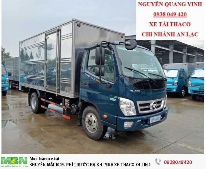 Xe tải Trường Hải - Thaco Thaco Ollin 350.E4 - Thùng dài 4m4 - Tải trọng 2tấn - Mới nhất - Bán Xe Trả Góp 2