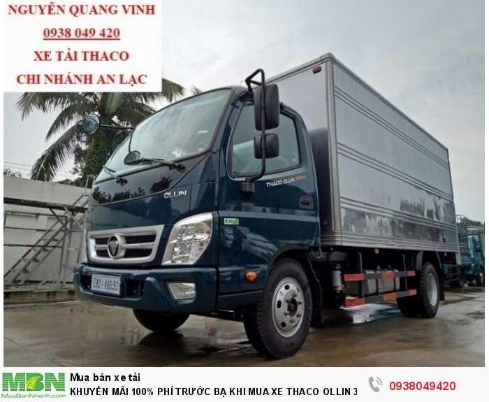 Xe tải Trường Hải - Thaco Thaco Ollin 350.E4 - Thùng dài 4m4 - Tải trọng 2tấn - Mới nhất - Bán Xe Trả Góp 3