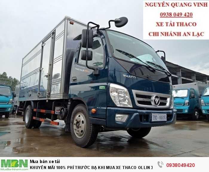 Xe tải Trường Hải - Thaco Thaco Ollin 350.E4 - Thùng dài 4m4 - Tải trọng 2tấn - Mới nhất - Bán Xe Trả Góp 4