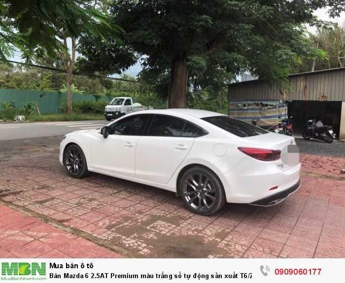 Bán Mazda 6 2.5AT Premium màu trắng số tự động sản xuất T6/2017 bản facelift lăn bánh 18000km