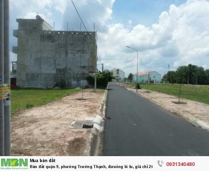 Bán đất quận 9, phường Trường Thạnh, đưuòng lò lu, giá chỉ 2ty9 sở hữu 80m2 thổ cư