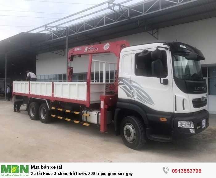 Khuyến mãi mua xe tải Fuso 3 chân, trả trước 200 triệu, giao xe ngay - Hotline: 0913553798 (Ms Thi 24/24)