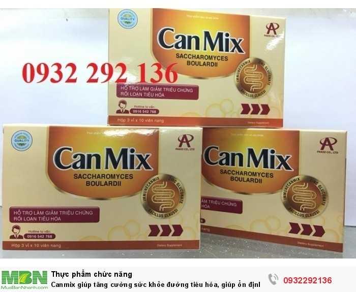 Canmix giúp giảm các triệu chứng khó chịu do loạn khuẩn ruột, viêm đại tràng cấp và mạn tính như đau bụng âm ỉ, đi ngoài phân sống, tiêu chảy, táo bón... Liên hệ 0932 292 136 để được tư vấn và giao hàng toàn quốc0