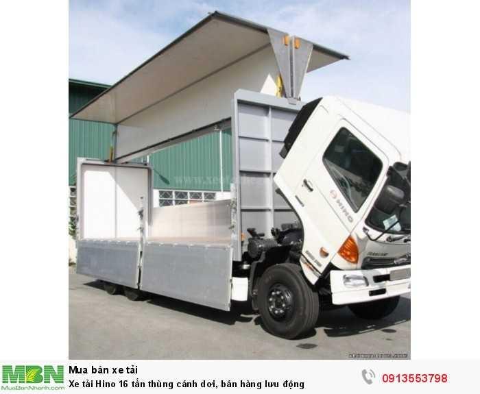 Khuyến mãi mua xe tải Hino 16 tấn thùng cánh dơi, bán hàng lưu động - Hotline: 0913553798 (Mr Thi 24/24)