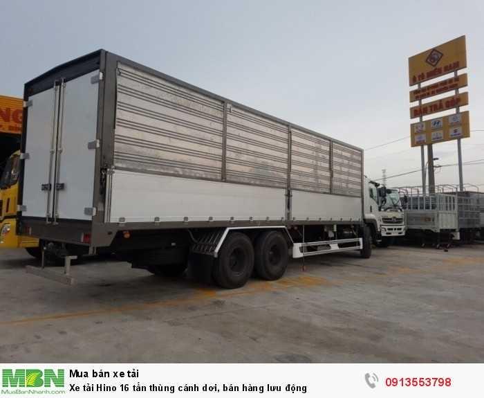 Mua xe tải Hino 16 tấn thùng cánh dơi, bán hàng lưu động - Hotline: 0913553798 (Mr Thi 24/24)