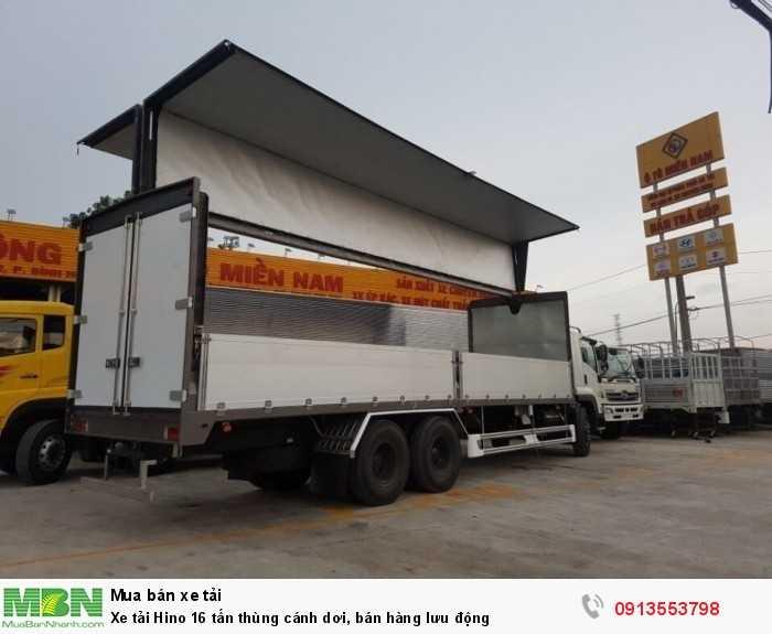 Bán xe tải Hino 16 tấn thùng cánh dơi, bán hàng lưu động - Hotline: 0913553798 (Mr Thi 24/24)