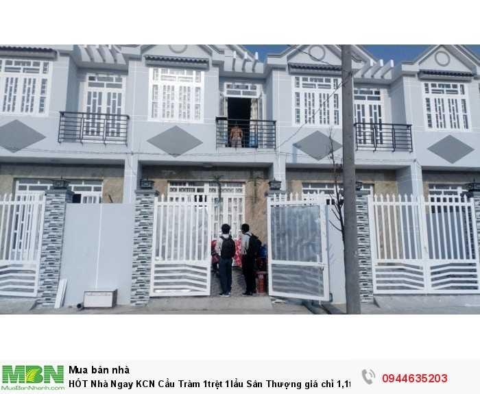 HÓT Nhà Ngay KCN Cầu Tràm 1trệt 1lầu Sân Thượng