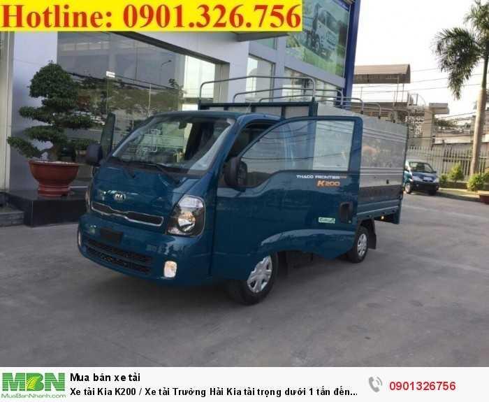 Xe tải Kia K200 / Xe tải Trường Hải Kia tải trọng  dưới 1 tấn đến 1.99 tấn
