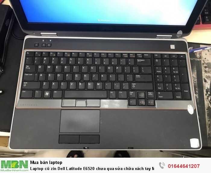 Laptop cũ zinDellLatitude E6520chưa qua sửa chữaxách tayMỹ0