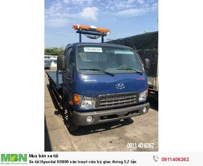 Xe tải Hyundai HD800 sàn trượt cứu hộ giao thông 5,7 tấn